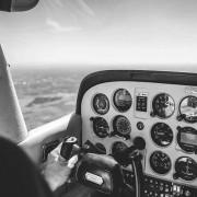 Cockpit über Hamburg