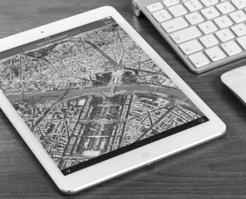 Tablet mit Map
